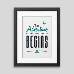 The adventure begins Framed poster