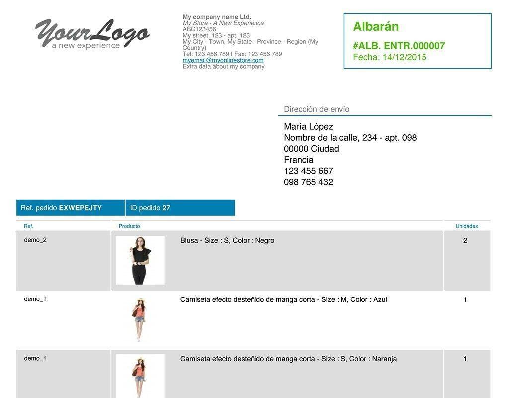 Facturación Total PrestaShop. Personalizar facturas. Informes en excel