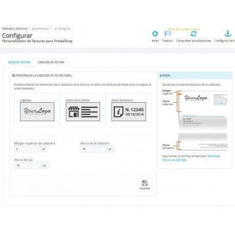Personalizador avanzado de facturas para PrestaShop 1.6