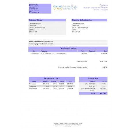 Invoice customization for PrestaShop 1.5