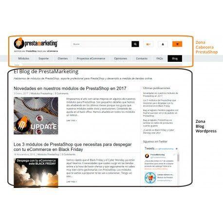 Integración de WordPress en tu tienda PrestaShop