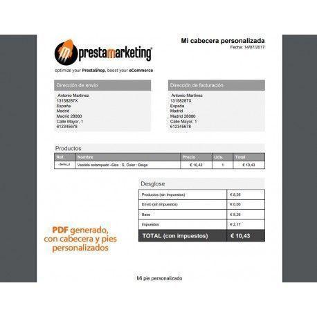 Cart to PDF: crea presupuestos desde el carrito de PrestaShop