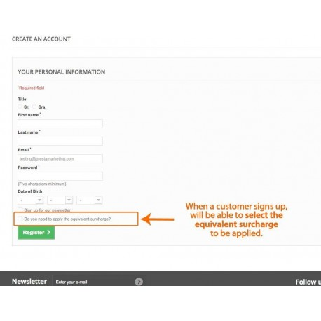 Equivalence Surcharge for Prestashop Invoices